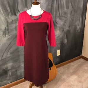 Talbots Color block straight line dress